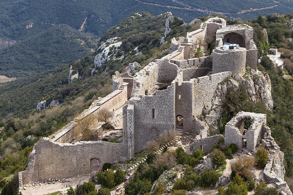 Peyrepertuse vu du ciel, Aude, Languedoc Roussillon