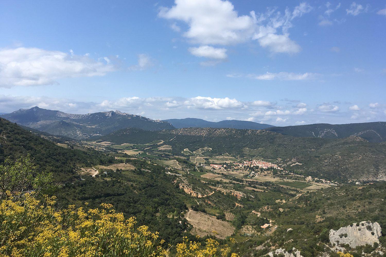 peyrepertuse view