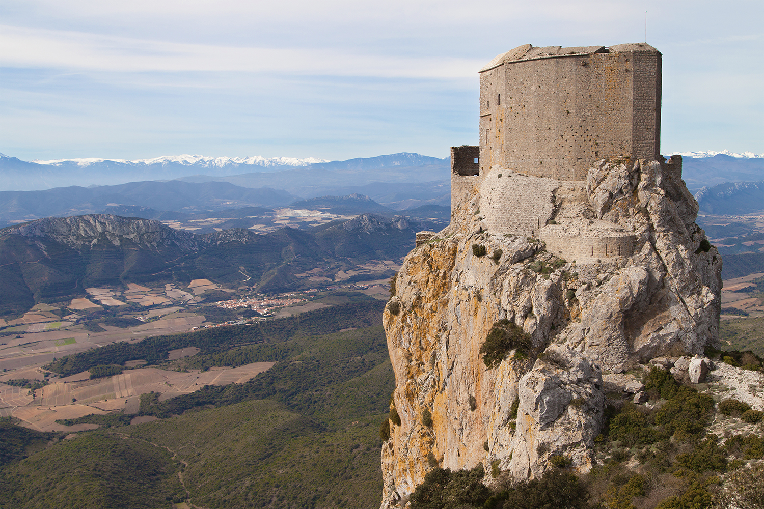 Queribus Castle in Aude, Languedoc-Roussillon, France